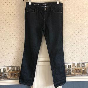 LOFT Modern Straight Dark Wash Jeans 4P